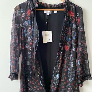 Black floral Anthropologie maxi dress